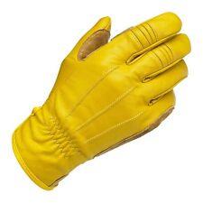 Guanti gloves BILTWELL GOLD gialli tg.M cafe racer scramler custom bobber 101927