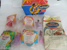 DISNEY HERCULES LUNCH PAIL Thermos ALADDIN VINTAGE McDonalds bag Figurines