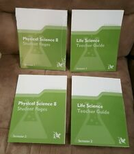K12 Life Science Student Pages +Teacher Guide Semester 1 and 2 Home Schooling
