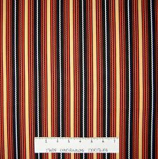 Halloween Fabric - Beggager's Bounty Orange Ric-Rac Stripe - RJR Cotton YARD