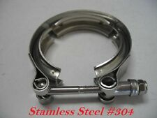 """New 3"""" Inch Turbo Exhaust Down Pipe Stainless #304 V-Band V band Vband Clamp"""