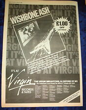WISHBONE ASH Just Testing (Virgin) 1980  UK Poster size Press ADVERT 16x12""