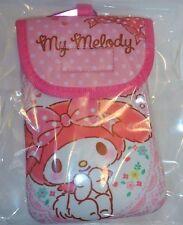 【My melody】Mobile phone digital camera pouch pink ribbon kawaii SANRIO JAPAN