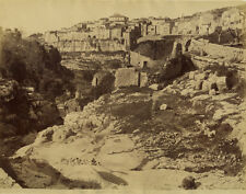 Photo Jean Gilletta Albuminé Tourrettes de Vence Tourrettes sur Loup 1880