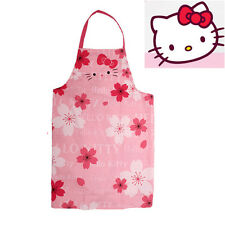 Hello Kitty Cherry Adult Apron Kitchen Housework Cooking Dress Lovely Pink