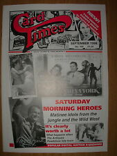 CARD TIMES MAGAZINE FORMERLY CIGARETTE CARD MONTHLY No 103 SEPTEMBER 1998