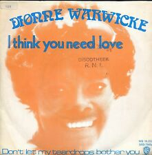 7inch DIONNE WARWICKE i think you need love HOLLAND 1973 EX WOC