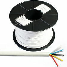 100m Reel 4-way/2 Par Alarma cable-tinned de cobre trenzado Cctv Panel contacto Pir