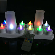 12pcs/set Remote Controlled Rechargeable Tea Light LED Candles color Change lamp