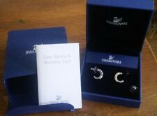 Genuine Swarovski mini hoop silver tone earrings birthday wedding RRP£59