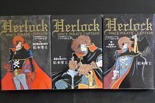 JAPAN Leiji Matsumoto manga: Space Pirate Captain Harlock 1~3 Complete Set