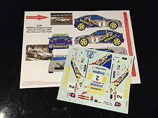 DECALS 1/24 RENAULT MEGANE MUNSTER RALLYE 24H SPA 1998 RALLY WRC RENAISSANCE