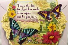 pUNCH sTUDIO Single(1) Die-Cut Scripture Note Card- Psalm 118:24 This Is The Day
