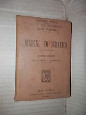 DISEGNO TOPOGRAFICO G Bertelli Hoepli 1905 scienza libro tecnica saggistica di