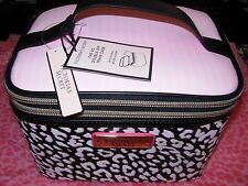 Victoria's Secret Travel Train Case Double-Zip with 5 Piece Brush Holder WOW NWT