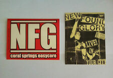 NEW FOUND GLORY 2 Pack of Stickers Coral Springs & Live Flyer NEW OFFICIAL MERCH