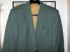 "DAKS LONDON MENS GREEN CHECK WOOL  BLAZER CHEST 38""R,PIT TO PIT 21, USED, VGC"