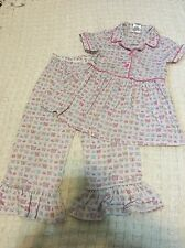 American Girl BITTY BABY Pink Butterflies PAJAMAS SIZE Xl 7 for Little Girls