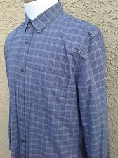 Awesome 7 For All Mankind Men's Blue/White Plaid Long Sleeve Shirt XL B15