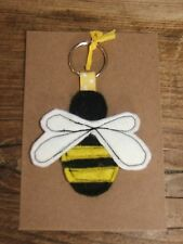 New Bumble Bee Hand Made Keyring / Book Bag Tag / Charm - Great Gift Present