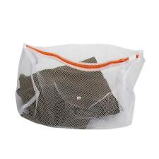 Thickening Double Mesh Layer Zipper Bag Cylindrical Laundry Clothes Protector
