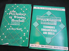 The Psychology of Winning Baseball Wolff/Championship Baseball Russo 2-1986 book