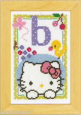 Vervaco  0149005  Alphabet © Hello Kitty - Lettre B  Kit  Point de Croix  Compté