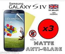 3x HQ MATTE ANTI GLARE SCREEN PROTECTOR COVER GUARD FOR SAMSUNG GALAXY S4 i9500