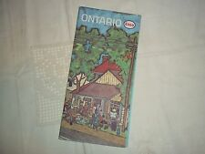 Vtg. Esso Road Map - Ontario, Canada - 1963