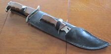 "18"" Fixed Blade Survival Knife  Leather Sheath  Pakistan Stainless & 9.5"" Knife"