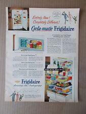 CYCLA-MATIC FRIGIDAIRE REFRIGERATOR 1952 VINTAGE MAGAZINE AD  INV#224