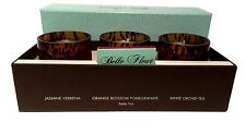 Belle Fleur Candles 3 Votives Classic Floral Collection Orange Jasmine Verbena