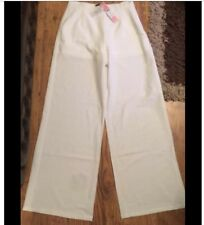 LIPSY FROM NEXT PALAZZO STYLE TROUSERS WHITE SIZE 12  BNWT