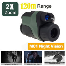 Night Vision Monocular Goggles Binocular Hunting NVD Security+CR123A Battery Kit