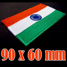 India Flag Embroidered Patch Indian Iron On National Emblem ( 90 x 60 mm) BIG