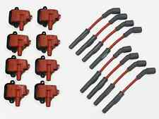 MSD WIRES RED AND 8 VMS PRO HIGH OUTPUT PERFORMANCE IGNITION COIL PACKS LS1 LS6