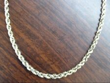 "VINTAGE CLASSIC ROPE NECKLACE CHAIN SOLID REAL 14K GOLD 18"" 5.7g (GP2003900)"