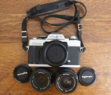 Minolta XG-M  Camera Complete with MD ROKKOR-X 45mm f2.0 & 28mm f2.8 Lenses