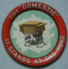 NEAR MINT THE DOMESTIC SEWING MACHINE TIN LITHO ADVERTISING TIP TRAY