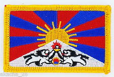 PATCH ECUSSON BRODE DRAPEAU TIBET INSIGNE THERMOCOLLANT NEUF FLAG PATCHE