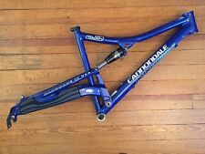 "Cannondale Rush SL Suspension Mountain Bike Frame Fox Large Blue 26"" 650b USA"