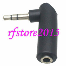 """2pcs Adapter 3.5mm 1/8"""" male to 3.5mm female stereo right angle for Headphone"""