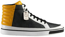 Gucci Men's Limited Edition GG Supreme Leather High Top Sneakers Shoes - Gray...