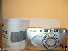 BXD MINOLTA RIVA ZOOM 125 35MM FILM CAMERA WITH 37.5-125MM LENS~METAL BODY JN10