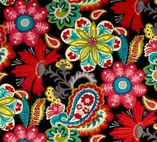 Outdoor/ Indoor ~ Upholstery ~ PAISLEY FLOWER POWER ~ Fabric ~ per 1/4 yard