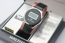 *NOS* New Vintage WALTHAM LCD 3002 Solid State Quartz Stainless Watch w/ Box