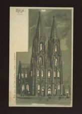 Germany KOLN Dom Cologne Cathedral HOLD TO LIGHT c1902 u/b PPC