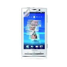 étui coque pour Sony Ericsson Xperia X10 motif gaufré blanc + film écran