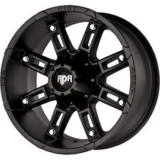 Red Dirt Road Thunder RD06 17x9 6x135/6x139.7 (6x5.5) -12mm Black Wheels Rims