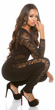 # Sexy Catsuit M.Sexy Spitze Overall S 36 Jumpsuit Party Anzug Club #97549